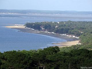 Les plages du pyla depuis la dune