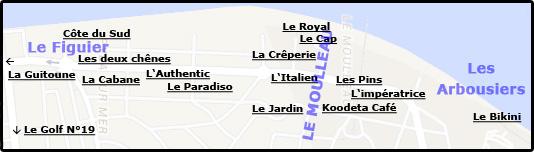 Les restaurants du pula sur mer du moulleau et l 39 oc an - Les pins du moulleau ...