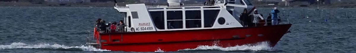 Se déplacer en bateau taxi sur le bassin au pyla et au moulleau
