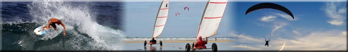 Retrouvez les activités sportives au Pyla, sur la plage, dans l'eau, dans l'air...