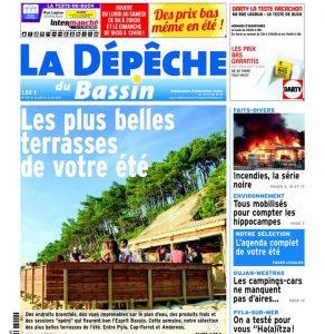 La Dépêche du Bassin est un hebdomadaire régional français diffusé tous les jeudis sur le bassin d'Arcachon en Aquitaine (1.50 € à l'unité). Le premier numéro date de 1996. Créé à l'époque par Philippe Galland, il appartient aujourd'hui au groupe Sud Ouest. Ses pages sont imprimées à la rotative de Sud-Ouest à Bordeaux. Les correspondants couvrent toutes les communes du bassin qui composent l'arrondissement d'Arcachon, soit 10 communes, plus les 5 du Val de l'Eyre.