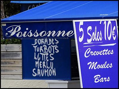 Chez Maréade, poissonnerie au Pyla
