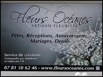 Fleurs Océanes, Plantes fleurs coupées au Moulleau