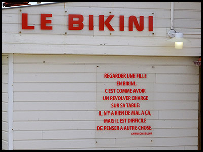 Le Bikini, restaurant au Moulleau village