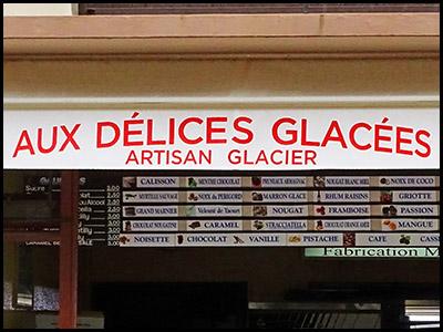 Aux délices glacées, glacier au Moulleau village
