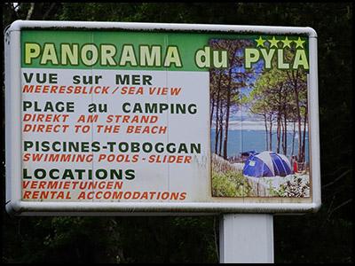Panorama du Pyla, camping au Pyla sur mer