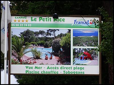 Le Petit Nice, camping au Pyla sur mer