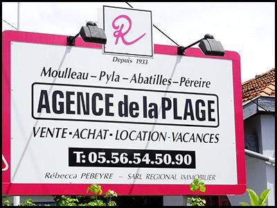 Agence de la plage, agence immobilière au Moulleau village