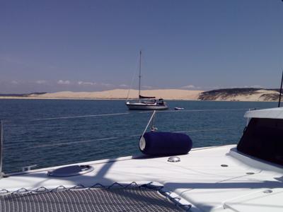Catabas sorties en catamaran avec skipper sur le bassin d'Arcachon.